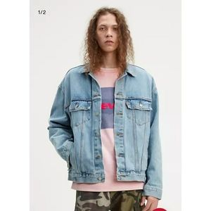 Levi's Jackets & Coats - Levi's Oversized Dad Trucker Denim Jacket.